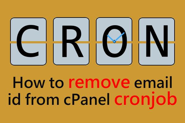 cpanel cron job