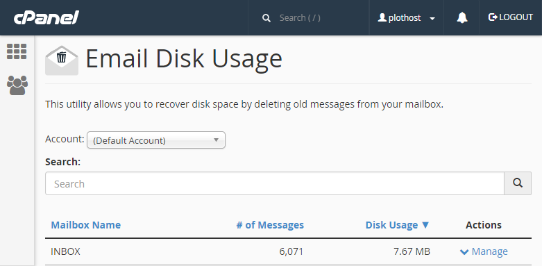 How to Fix Default Email Account Space Miscalculation in cPanel?